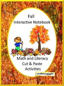 Fall Interactive Notebook Kindergarten Math & Literacy Center Special Education