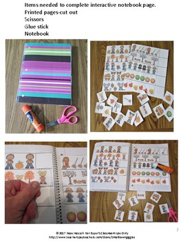 Fall Interactive Notebook Math Literacy Special Education Fine Motor