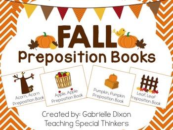 Fall Interactive Preposition Books {Apples, Acorns, Leaves & Pumpkins}