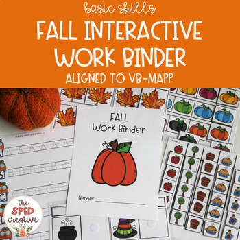Fall Interactive Work Binder – Basic Skills & Aligned to VB-MAPP