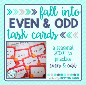 Fall Into Even and Odd - Autumn-Themed Math Scoot