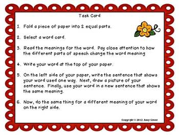 Fall Into Fall: Multiple Meaning Words Literacy Center