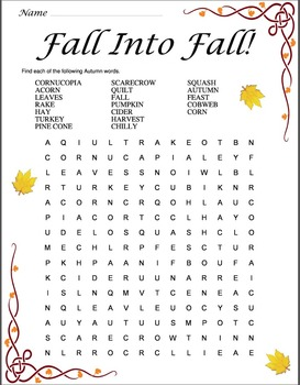 Fall Into Fall Unit
