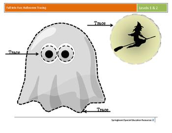 Fall Into Fun: Halloween Tracing (Levels 1 &2)