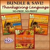 BUNDLE Thanksgiving: Prepositions, Pronouns, Verbs, Rhymin