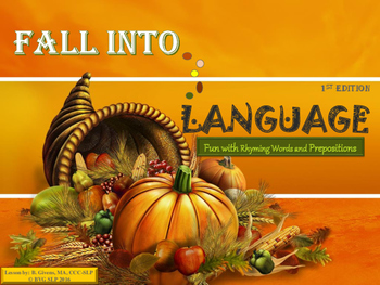 Fall Into Language - Thanksgiving Unit 1st Edition