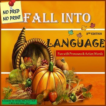 Fall Into Language - Thanksgiving Unit 2nd Edition