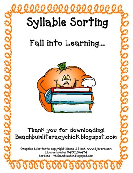 Fall Into Learning - A Differentiated Syllable Activity