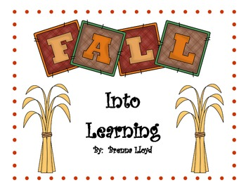 Fall Into Learning.....Math and Reading