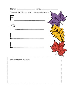 Fall Into Literacy: Fall Writing and Research