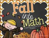 Fall Math Task Cards {Math Hunt}