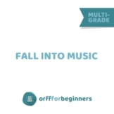 Fall Into Music Bundle: Pumpkins, Leaves and Apples, the Orff way