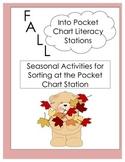 Fall Into Pocket Chart: Seasonal Literacy Match-ups and Sorts!