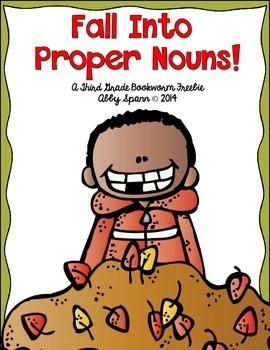 Fall Into Proper Nouns! {A Printable FREEBIE Mini-Pack!)