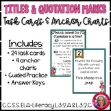 Quotation Marks and Capitalizing Titles Task Cards