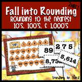 Fall Into Rounding - Rounding to the Nearest 10's, 100's, & 1,000's