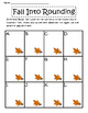 Fall Into Rounding Task Cards/Math Center