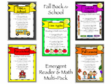 Back to School Emergent Readers & Math Multi-Pack {Common Core Aligned}