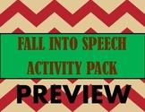 Fall Into Speech Activity Pack BUNDLE!