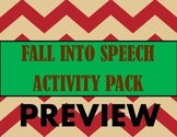 Fall Into Speech Activity Pack BUNDLE!