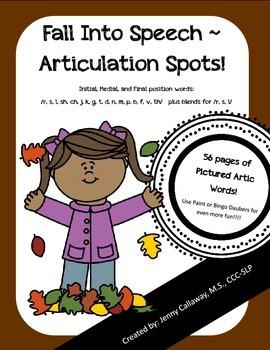 Fall Into Speech - Articulation Spots!
