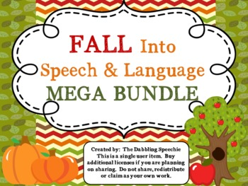 Fall Into Speech and Language MEGA BUNDLE