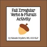 Fall Irregular Verbs and Plurals Activity