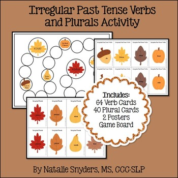 Fall Irregular Verbs and Plurals Activity