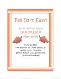 """Fall Isn't Easy!"" Literature Follow-Up Activity"