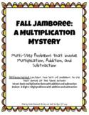 Fall Jamboree Multiplication Enrichment-Whodunnit Mystery