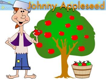 Fall Johnny Appleseed Apple Clip Art