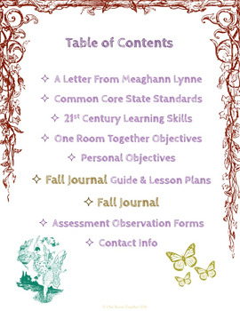 Fall Journal; Nature Activities; Homeschool; Integrated Reading, Math, and STEM