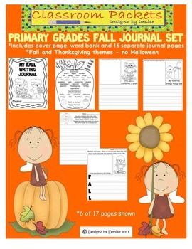 Fall Journal Pack for Primary Grades