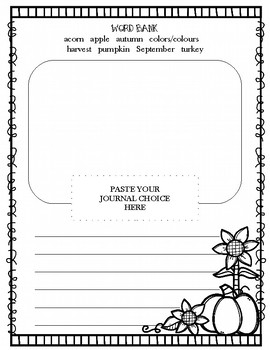 Fall Journal Prompt