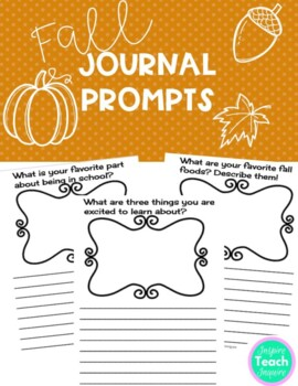 Fall Journal Prompts **NO PREP**