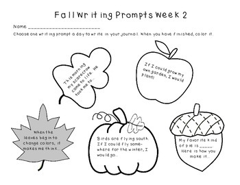 Fall Journal Writing Prompts