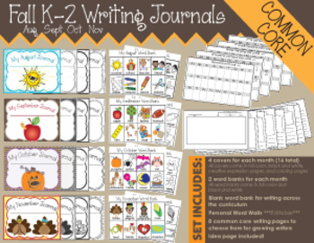 Fall K-2 Writing Journals {COMMON CORE}