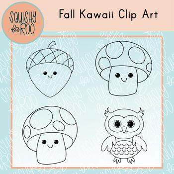 Fall Kawaii Clip Art