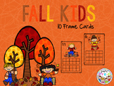 Fall Kids 10 Frame Cards 0-20