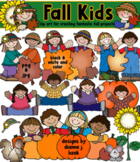 Fall Kids - Autumn Clip Art Download