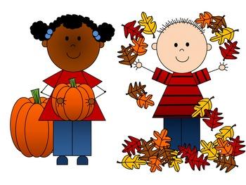 Fall Kids Clip Art {By Busy Bee Clip Art}