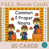 Fall Kids Common and Proper Nouns  Boom Cards™