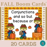 Fall Kids Conjunctions and so but because or Boom Cards™