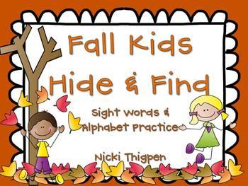 Fall Kids--Hide & Find (Sight Words/Alphabet)
