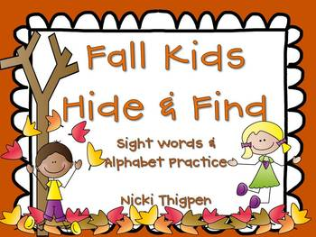 Fall Kids--Hide & Find (Sight Words/Alphabet)