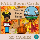 Fall Kids Nouns Person Place Thing Boom Cards™