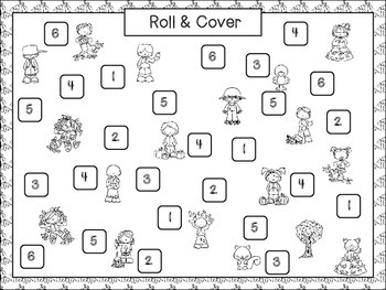 Fall Kids Roll and Cover {Freebie}