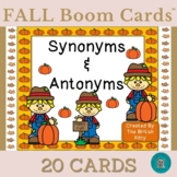 Fall Kids Synonyms and Antonyms Boom Cards™