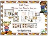 Fall Kids Write the Math Room