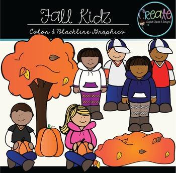 Fall Kidz - Digital Clipart